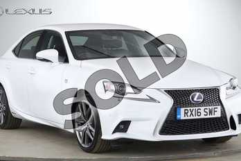 Lexus IS 300h F-Sport 4dr CVT Auto in F Sport White at Lexus Cheltenham