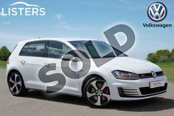 Volkswagen Golf 2.0 TSI GTI 5dr DSG (Performance Pack) in Pure White at Listers Volkswagen Nuneaton