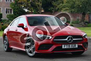 Mercedes-Benz CLA Class CLA 220 AMG Line Premium 4dr Tip Auto in Jupiter Red at Mercedes-Benz of Lincoln