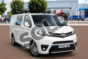 Toyota PROACE Long Diesel 2.0D 120 Comfort Crew Van in Vivid White at Listers Toyota Cheltenham