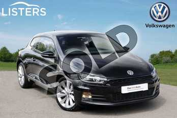 Volkswagen Scirocco Diesel 2.0 TDI BlueMotion Tech GT 3dr DSG in Deep black at Listers Volkswagen Leamington Spa