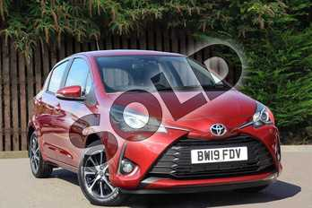 Toyota Yaris 1.5 VVT-i Icon Tech 5dr in Tokyo Red at Listers Toyota Coventry