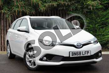 Toyota Auris Touring Sport 1.8 Hybrid Icon Tech TSS 5dr CVT in White at Listers Toyota Coventry