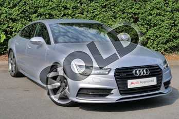 Audi A7 Special Editions 3.0 TDI Quattro Black Edition 5dr S Tronic in Floret Silver Metallic at Worcester Audi
