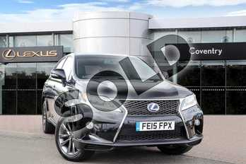 Lexus RX 450h 3.5 F-Sport 5dr CVT Auto in Velvet Black at Lexus Lincoln