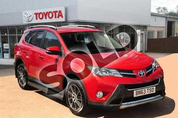 Toyota RAV4 Diesel 2.2 D-4D Invincible 5dr in Red at Listers Toyota Grantham