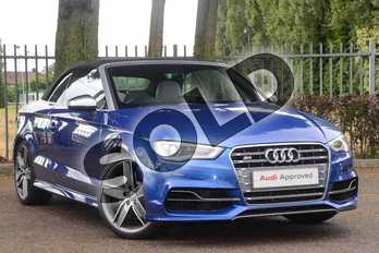 Audi A3 S3 TFSI Quattro 2dr S Tronic in Sepang Blue Pearlescent at Coventry Audi
