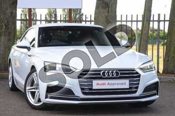 Audi A5 Diesel 2.0 TDI Ultra S Line 2dr S Tronic in Glacier White Metallic at Coventry Audi
