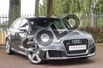 Audi RS3 RS 3 2.5 TFSI RS 3 Quattro 5dr S Tronic (Nav) in Daytona Grey Pearlescent at Coventry Audi