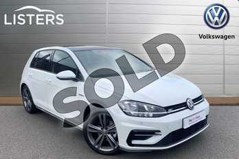 Volkswagen Golf 1.5 TSI EVO 150 R-Line 5dr DSG in Pure White at Listers Volkswagen Stratford-upon-Avon