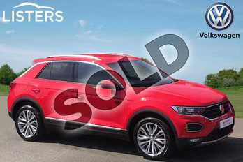 Volkswagen T-Roc 1.5 TSI EVO SEL 5dr in Flash Red at Listers Volkswagen Stratford-upon-Avon