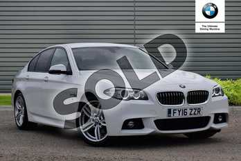 BMW 5 Series Diesel 520d (190) M Sport 4dr Step Auto in Alpine White at Listers Boston (BMW)