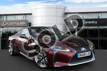 Lexus LC 500h 3.5 Sport+ 2dr Auto in Burgundy Red at Lexus Coventry