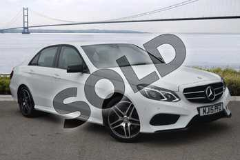 Mercedes-Benz E Class Diesel E250 CDI AMG Night Edition 4dr 7G-Tronic in Polar White at Mercedes-Benz of Hull