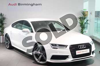 Audi A7 Special Editions 3.0 TDI Quattro 272 Black Edition 5dr S Tronic in Ibis White at Birmingham Audi