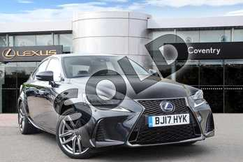 Lexus IS 300h F-Sport 4dr CVT Auto in Graphite Black at Lexus Coventry