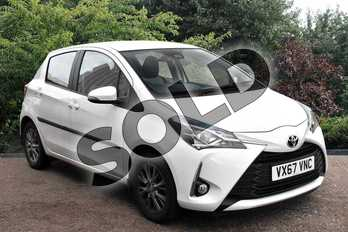 Toyota Yaris 1.5 VVT-i Icon 5dr in White at Listers Toyota Stratford-upon-Avon
