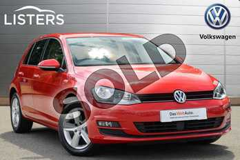 Volkswagen Golf Diesel 1.6 TDI 105 Match 5dr in Red at Listers Volkswagen Coventry