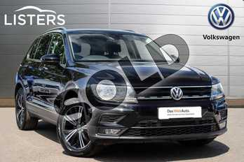 Volkswagen Tiguan Diesel 2.0 TDI 150 SE 5dr DSG in Deep black at Listers Volkswagen Leamington Spa