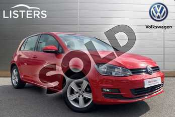 Volkswagen Golf Diesel 1.6 TDI 105 Match 5dr in Tornado Red at Listers Volkswagen Stratford-upon-Avon