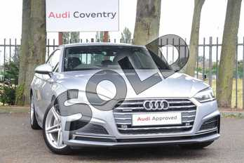 Audi A5 2.0 TFSI 252 Quattro S Line 2dr S Tronic in Floret Silver Metallic at Coventry Audi
