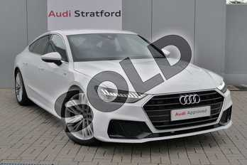 Audi A7 Diesel 40 TDI S Line 5dr S Tronic in Ibis White at Stratford Audi