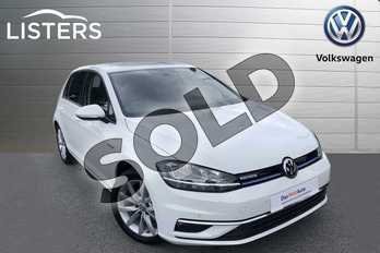 Volkswagen Golf 1.5 TSI EVO GT 5dr in Pure white at Listers Volkswagen Worcester