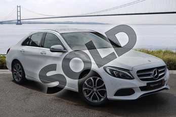 Mercedes-Benz C Class C350e Sport 4dr Auto in Polar White at Mercedes-Benz of Hull