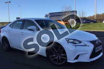 Lexus IS 300h F-Sport 4dr CVT Auto in F Sport White at Lexus Coventry