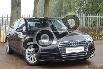 Audi A4 Diesel 2.0 TDI S Line 4dr in Mythos Black, metallic at Coventry Audi