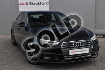 Audi A4 2.0T FSI S Line 4dr in Myth Black Metallic at Stratford Audi