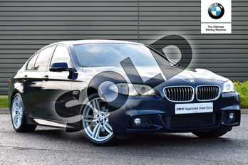BMW 5 Series Diesel 520d (190) M Sport 4dr Step Auto in Imperial Blue Xirallic at Listers King's Lynn (BMW)