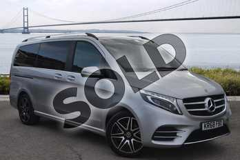 Mercedes-Benz V Class Diesel V250 d AMG Line 5dr Auto (Long) in brilliant silver metallic at Mercedes-Benz of Hull