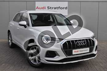 Audi Q3 35 TFSI Sport 5dr in Glacier White Metallic at Stratford Audi