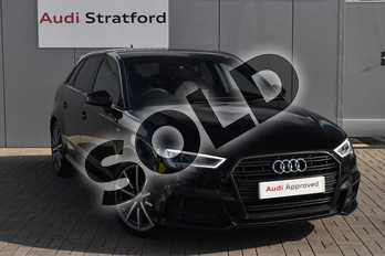 Audi A3 Diesel 30 TDI 116 Black Edition 5dr in Myth Black Metallic at Stratford Audi