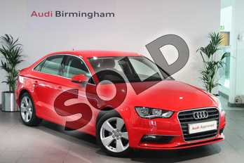 Audi A3 Diesel 1.6 TDI 110 Sport 4dr in Misano Red, pearl effect at Birmingham Audi