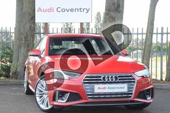Audi A4 Diesel 35 TDI S Line 4dr S Tronic in Tango Red Metallic at Coventry Audi