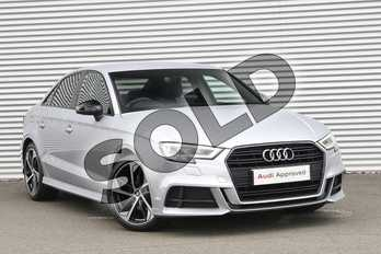 Audi A3 30 TFSI Black Edition 4dr S Tronic in Floret Silver Metallic at Coventry Audi