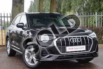 Audi Q3 35 TFSI S Line 5dr in Myth Black Metallic at Coventry Audi