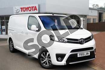 Toyota PROACE Medium Diesel 2.0D 180 Design Van (TSS) Auto in White at Listers Toyota Grantham