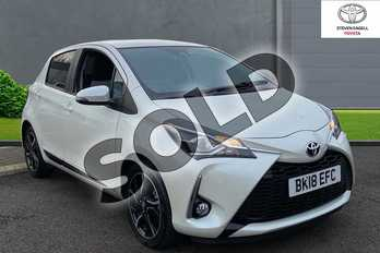 Toyota Yaris 1.5 VVT-i Design 5dr in Pure White at Listers Toyota Grantham