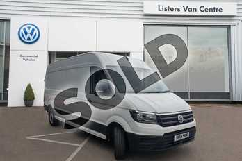 Volkswagen Crafter CR35 LWB Diesel 2.0 TDI 140PS Trendline High Roof Van in Candy White at Listers Volkswagen Van Centre Coventry