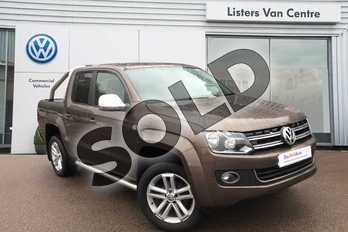 Volkswagen Amarok A32 Diesel D/Cab Pick Up Highline 2.0 BiTDI 180 BMT 4MTN Auto in Chestnut Brown at Listers Volkswagen Van Centre Coventry