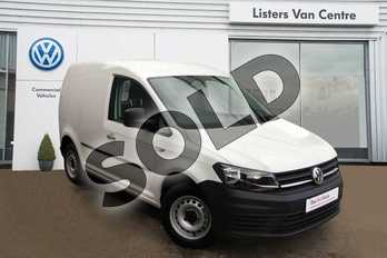 Volkswagen Caddy C20 Diesel 2.0 TDI BlueMotion Tech 102PS Startline Van in Candy White at Listers Volkswagen Van Centre Coventry