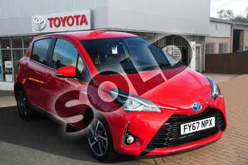 Toyota Yaris 1.5 Hybrid Excel 5dr CVT in Chilli Red at Listers Toyota Grantham