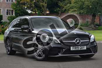 Mercedes-Benz C Class C300 AMG Line Premium Plus 5dr 9G-Tronic in obsidian black metallic at Mercedes-Benz of Lincoln