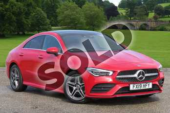 Mercedes-Benz CLA Class CLA 180 AMG Line Premium Plus 4dr Tip Auto in Jupiter Red at Mercedes-Benz of Boston