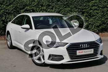 Audi A6 Diesel 40 TDI Sport 4dr S Tronic in Ibis White at Worcester Audi