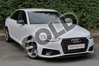 Audi A4 40 TFSI Black Edition 4dr S Tronic in Glacier White Metallic at Worcester Audi