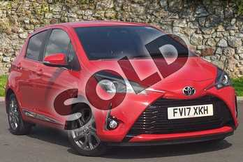 Toyota Yaris 1.5 VVT-i Excel 5dr in Red at Listers Toyota Lincoln